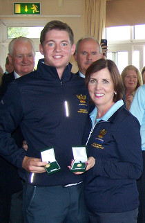 Matthew & Fiona receive medals