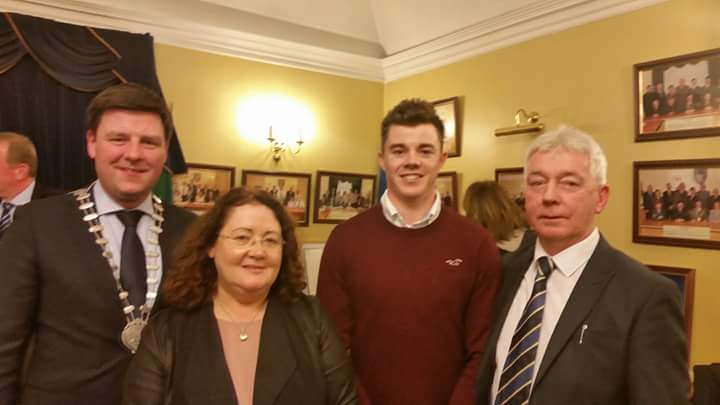 Cllr Glerndennen, Ms A Delaney, CEO Offaly, Stuart Grehan & Cllr D Harvey