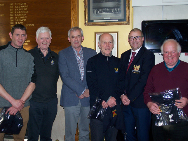3 Counties in 2nd Place with Dermot Scanlon Sponsor and Captain Brian Gunning