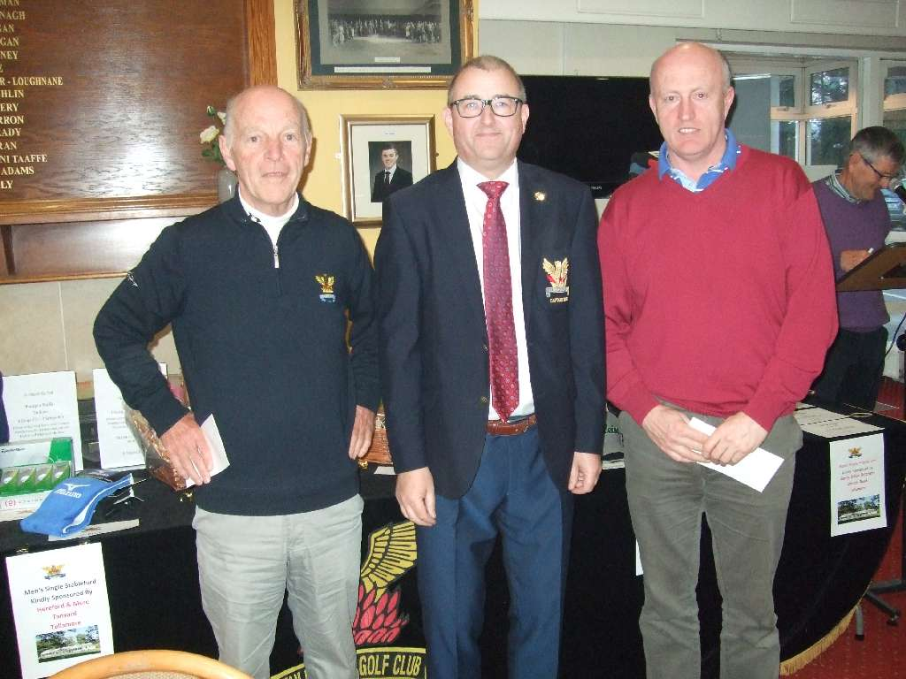 Tom Heery & Ray Spain 2nd in the Charity outing for St Vincent de Paul with Captain Brian Gunning