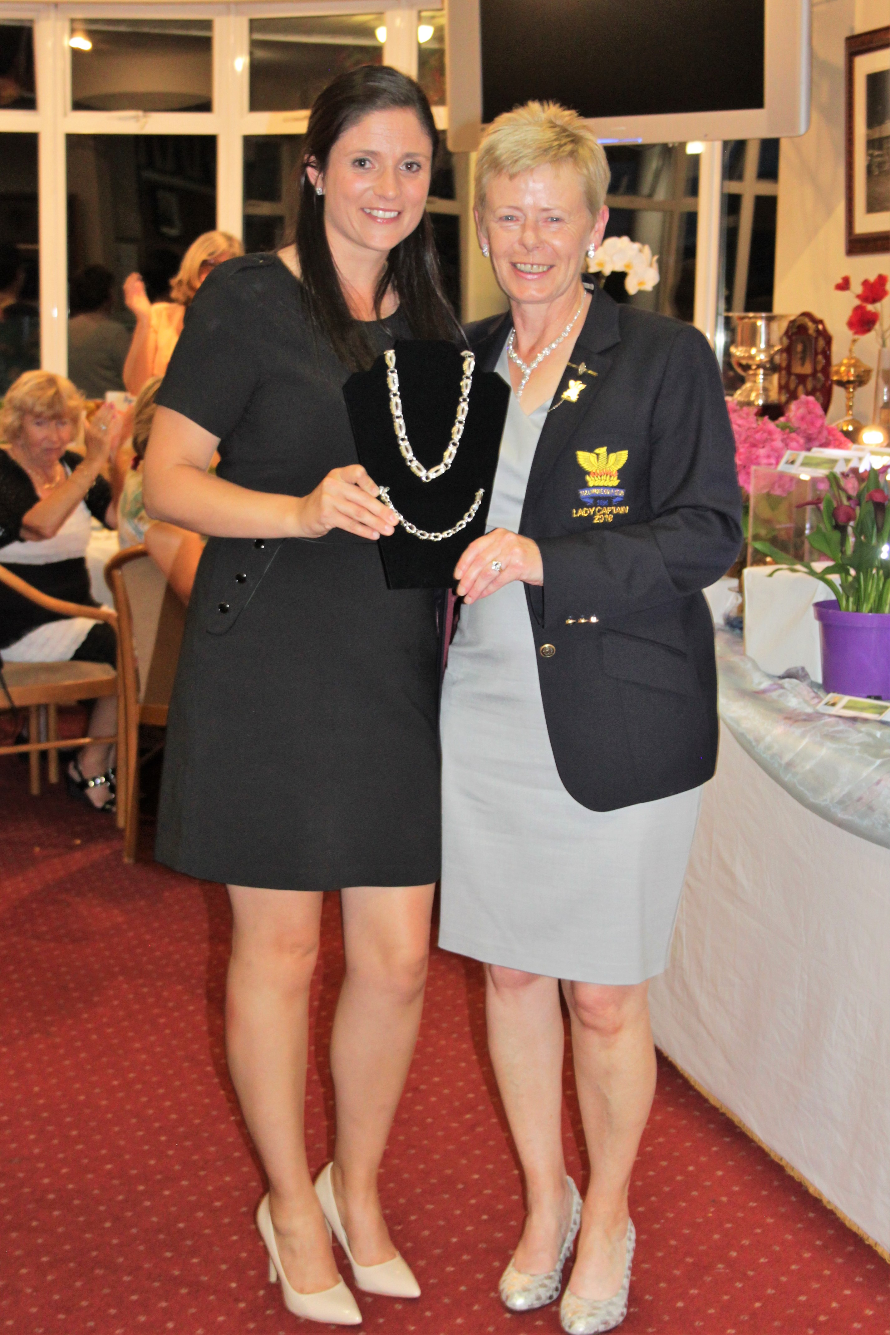 Una Marsden winner with Lady Captain Stephanie McNiff