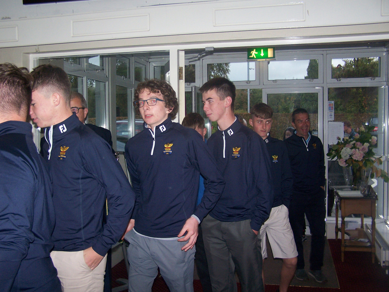 Boys arriving home